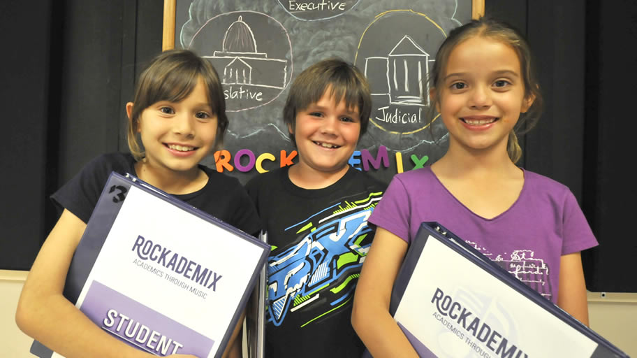 Rockademix uses music to teach kids academics.