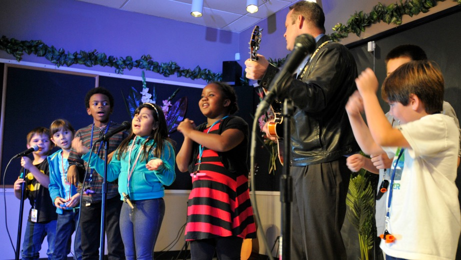 Rockademix is a non-profit that teaches academics through music.