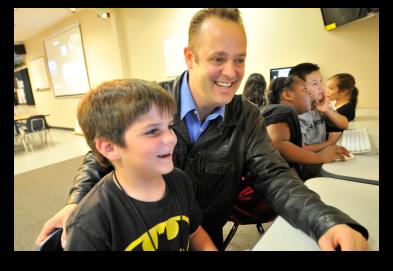 Jon Schwartz using technology to enhance the educational experience.
