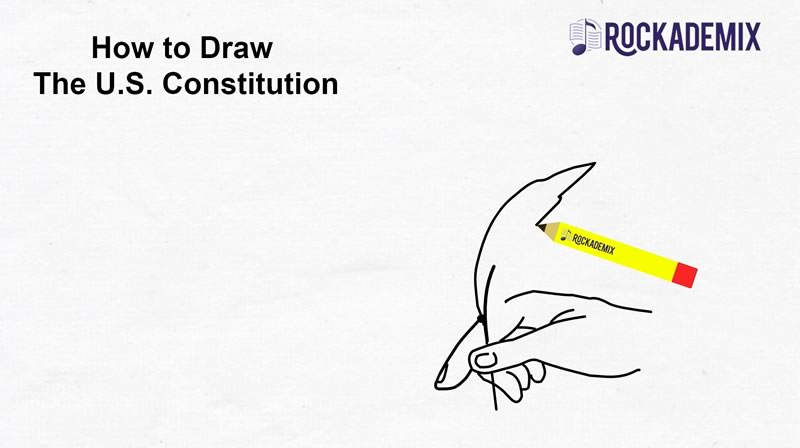 Drawing the US Constitution.