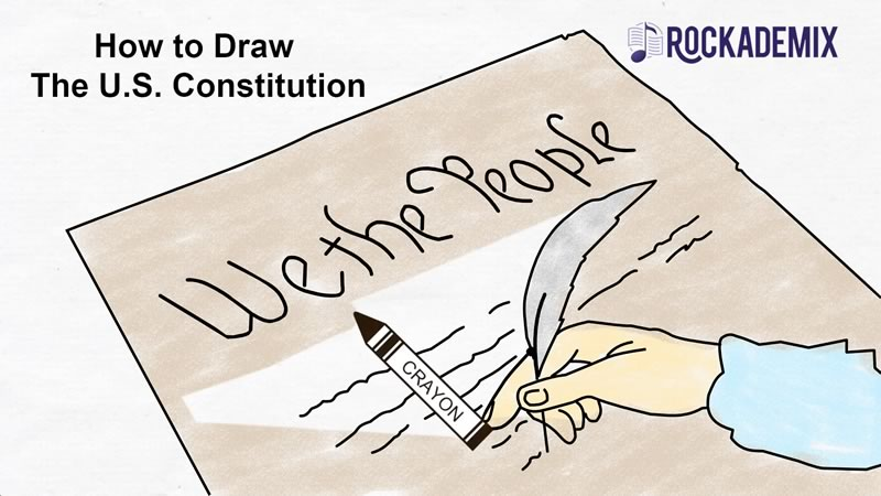 How to draw the US Constitution.