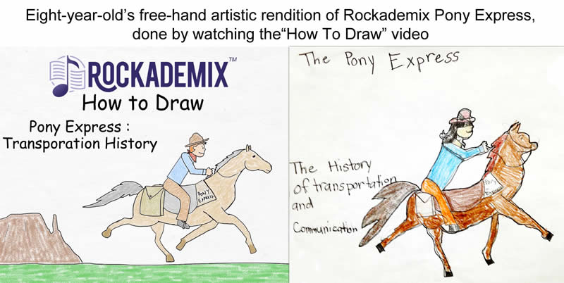Rockademix Student Drawings of the Pony Express