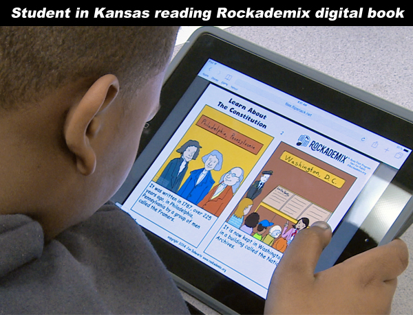 Topeka, KS student using Rockademix books